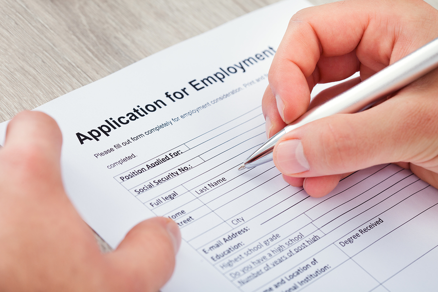 Filling Application For Employment Winston Salem